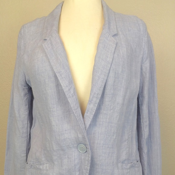 Poetry Jackets & Blazers - Poetry Light Blue Linen Blazer